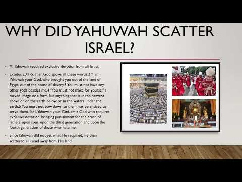 Why did God scatter all Israel among the nations?