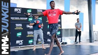 UFC 234: Israel Adesanya full open workout