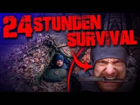 24 Stunden Survival Challenge Training Überleben mit dem MESSER Fritz am Limit #001