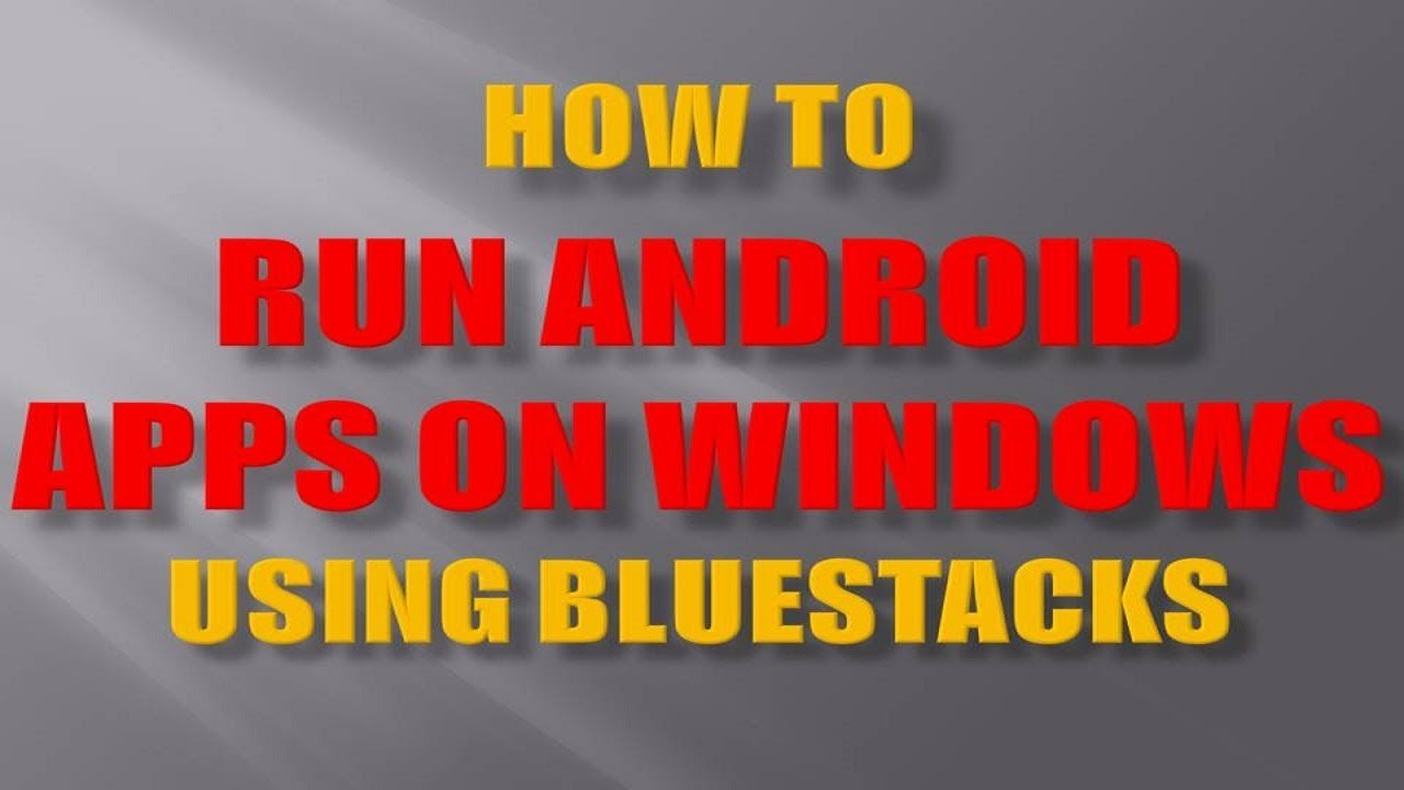 Bluestacks - The Android Emulator for PC - Home Media Portal