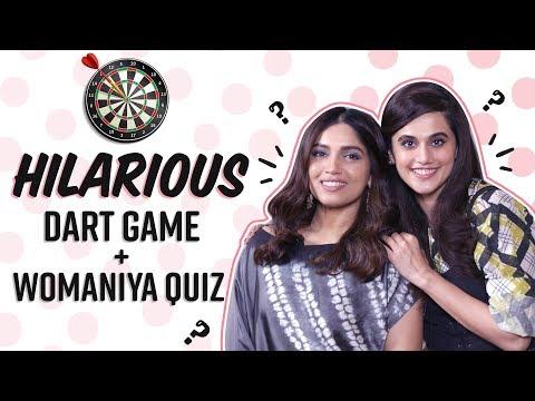 Taapsee Pannu & Bhumi Pednekar's EPIC FAILS in Dart Game, Quiz on Kareena, Aishwarya| Saand Ki Aankh Mp3
