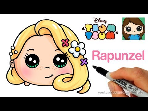How to Draw Rapunzel Tangled | Disney Tsum Tsum