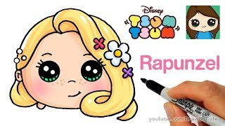 How to Draw Rapunzel Tangled | Disney Tsum Tsum