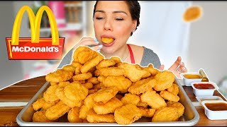 100 MC DONALD'S CHICKEN NUGGET CHALLENGE 먹방 (SAS-ASMR) MUKBANG