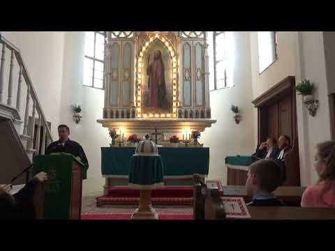 2018 - Egyházmegyei konfirmandus tábor záró istentisztelete - Adorjáni Dezső Zoltán püspök köszöntése
