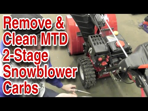 How To Remove & Clean The Carburetor On An MTD/Craftsman 2-Stage Snowblower