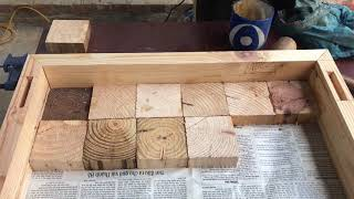 Amazing Design Ideas Woodworking From Pallets // Building A Outdoor Table From Pallet Blocks - DIY!