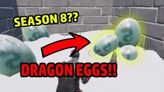 DRAGON EGGS? SEASON 8 EASTER EGG!? Early Release? (Fortnite How to get under Polar Peak!!) (Glitch!)