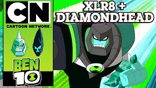 Ben 10 | The Power Of 10: XLR8 + Diamondhead | Cartoon Network UK