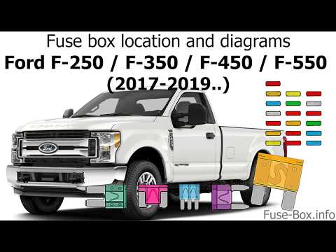 Fuse box location and diagrams: Ford F-Series Super Duty (2017-2019..)