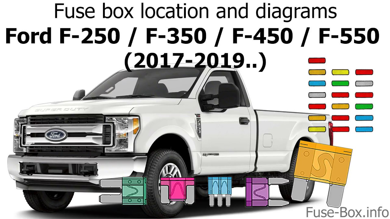 fuse box location and diagrams ford f series super duty 2017 2019 ford truck f450 fuse panel diagram [ 1280 x 720 Pixel ]