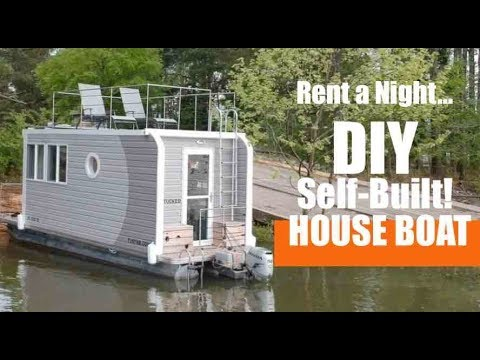 He Built His Own Tiny House Boat From Scratch And You