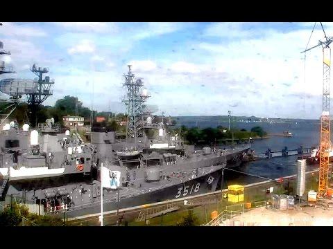 Корабли учебной эскадры Японии 日本 JMSDF Kashima Asagiri Setoyuki в шлюзе Кильского канала Full video