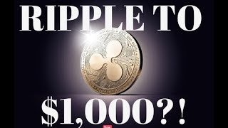 RIPPLE TO $1,000 OR HIGHER?! BITCOIN TO 10K THEN?