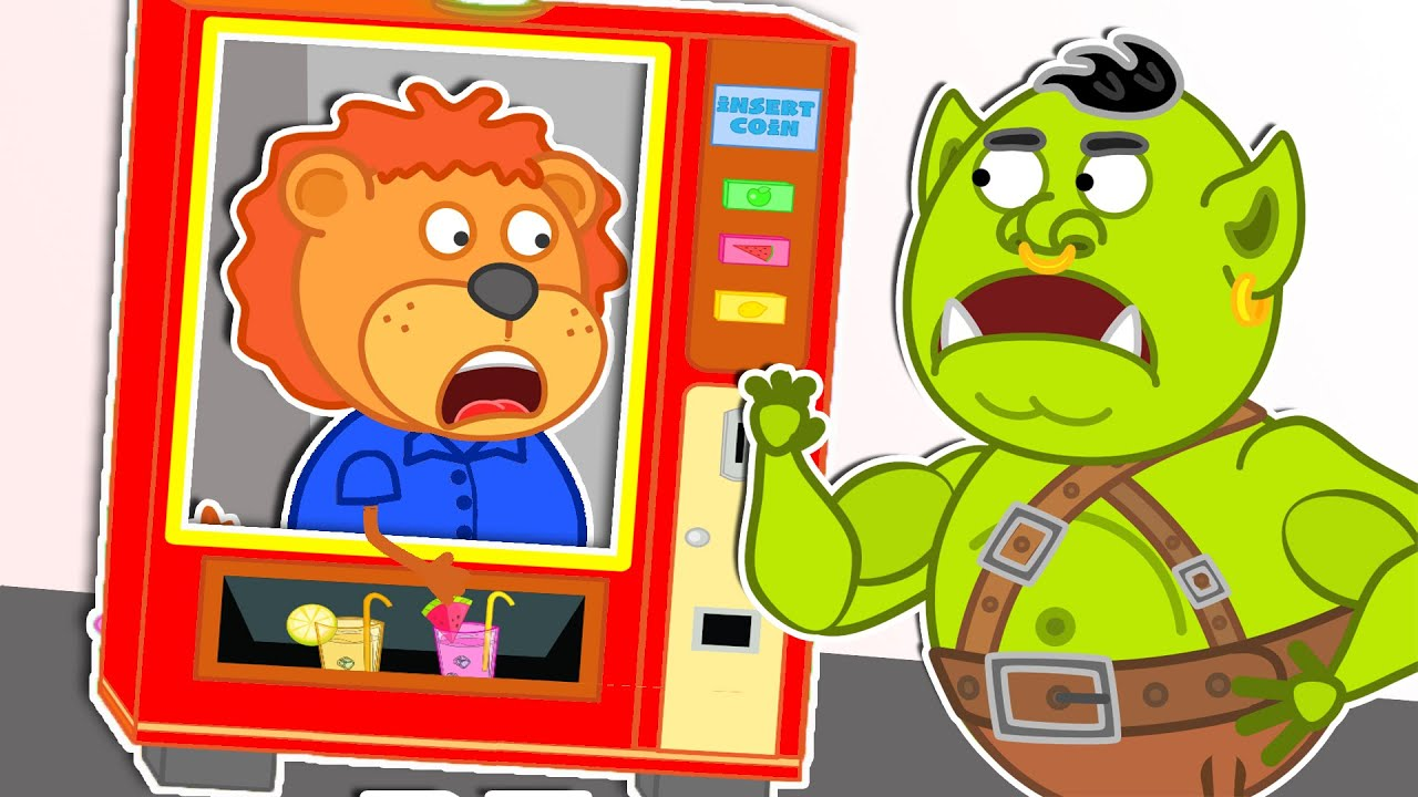 Lion Family Official Channel | superheroes vending machine kids toy story | Cartoon for Kids