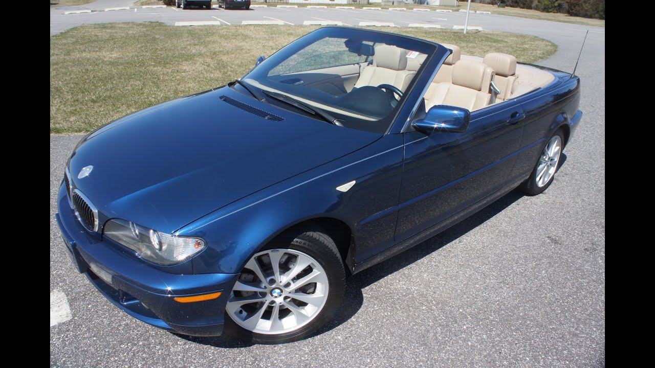 2005 bmw 330ci convertible for sale blue tan automatic heated seats side air bags salvage title youtube