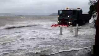 Sorrento Bay, Eastbourne, Wellington NZ. 21 June 2013. Worst storm since the Wahine!