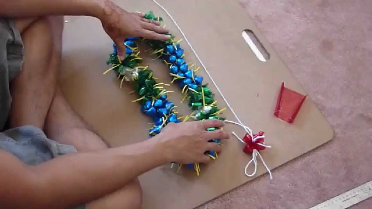How to make a 3d candy lei w kisses youtube izmirmasajfo