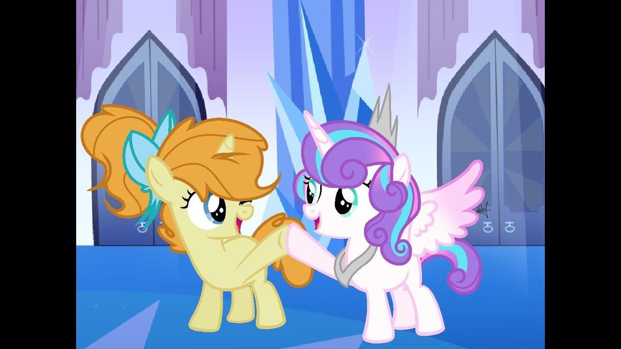 Mlp Base Speedpaint Princess Flurry Heart And Pumkin Cake
