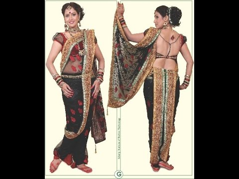 Easy Readymade Lavani saree cutting stitching with English subtitles