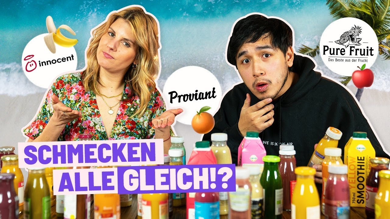 Marken & No-Name Smoothies erraten (Challenge)