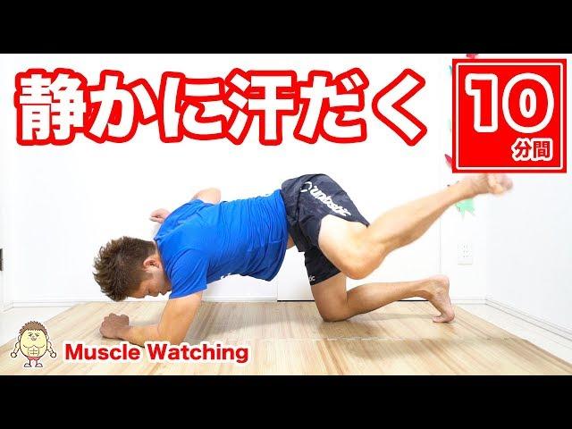 【10分】静かに汗だく!脂肪燃焼がヤバい! | Muscle Watching