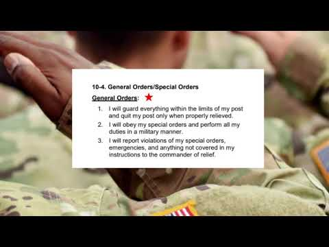 General Orders Loop, How To Memorize It The Easy Way, Soldier's Creed, Soldiers Creed, See Links