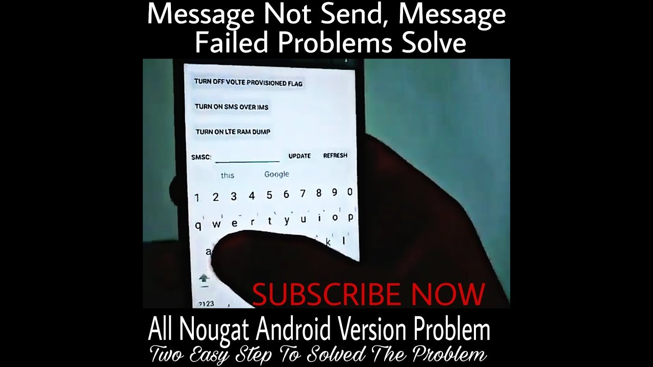 How To Fix Message Fail Message Not Send Problem Nougat दो आसान step मे सही  करे [Hindi][हिदी] By TSU