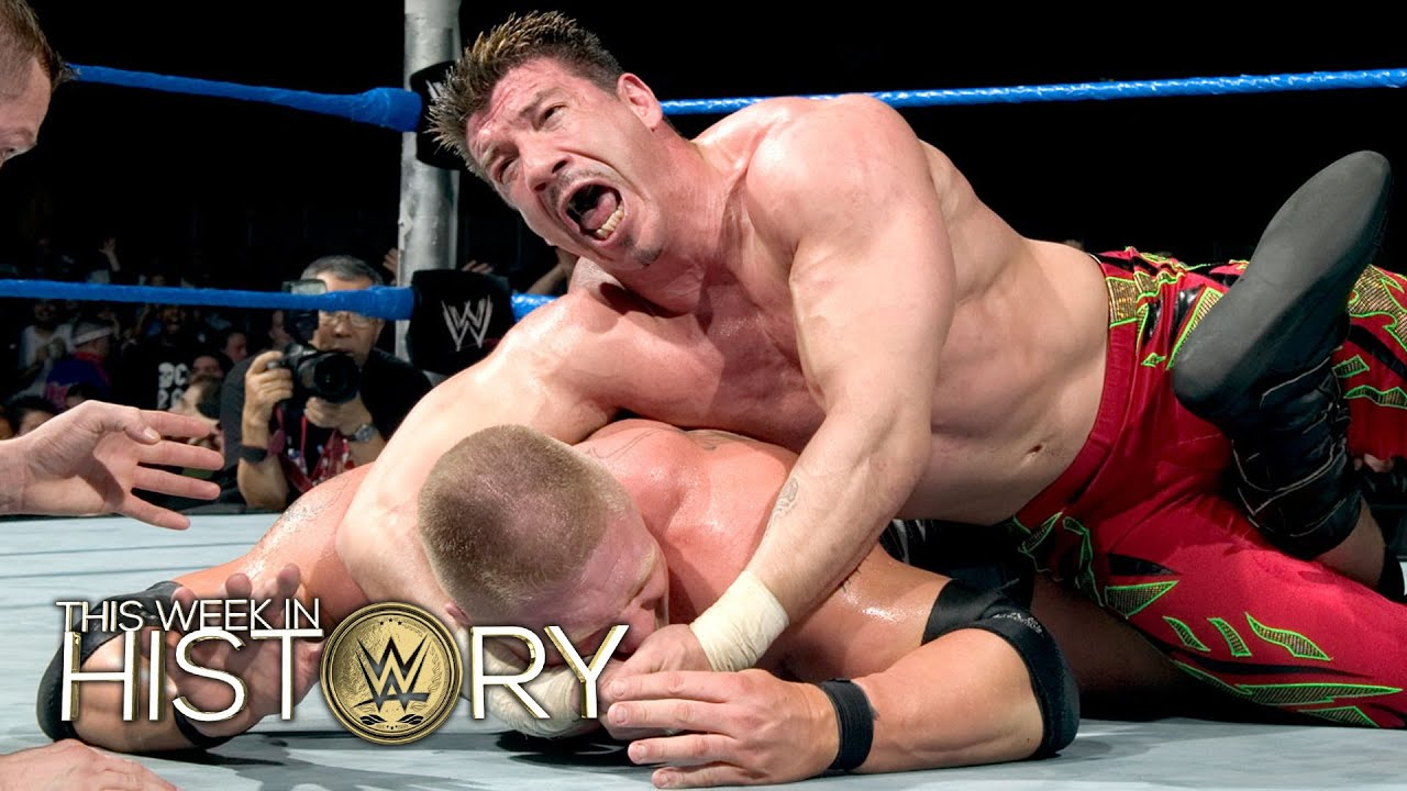 Eddie Guerrero beats Brock Lesnar for the WWE Championship: This Week in  WWE History, Feb  18, 2016