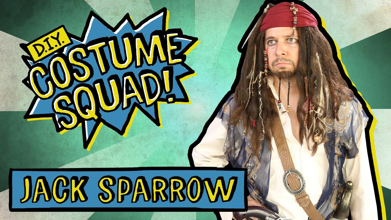 Make Your Own Captain Jack Sparrow - DIY Costume Squad  sc 1 st  YouTube & Make Your Own Captain Jack Sparrow - DIY Costume Squad - YouTube