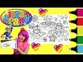 Coloring Lisa Frank Donuts & Dogs Coloring Book Page Colored Markers Prismacolor | KiMMi THE CLOWN