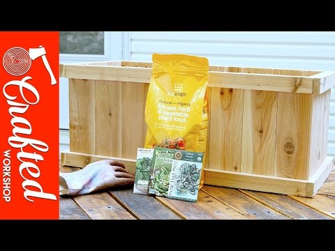How To Build A Cedar Planter Box DIY | Crafted Workshop