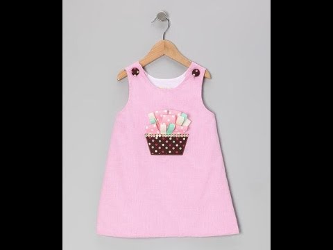 05ee9507d تطبيق عملى خياطة فستان طفلة موديل رقم 1 - YouTube