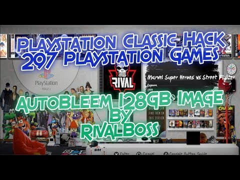 Playstation Classic AutoBleem Hack All Playstation Game Downloadable 128GB Image