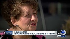 Solar panel company accused of taking thousands, never doing installations