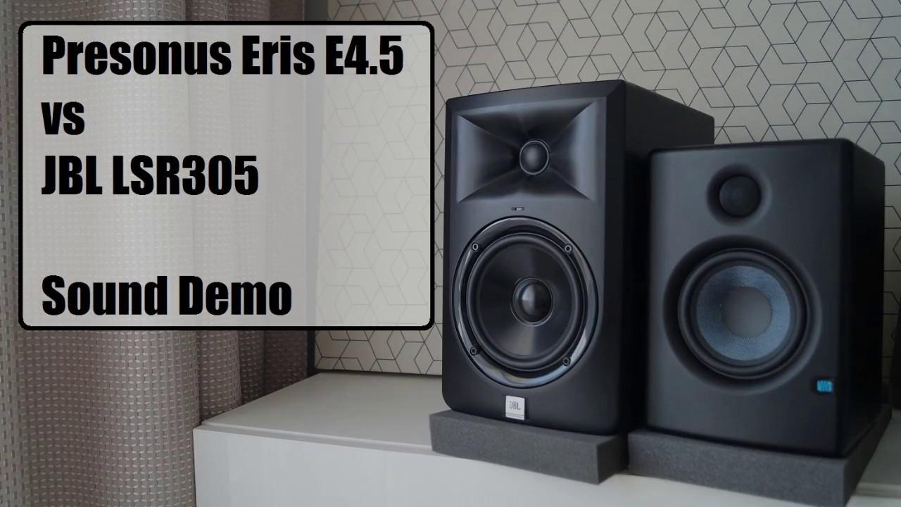 presonus eris e4 5 vs jbl lsr305 sound demo 2 youtube. Black Bedroom Furniture Sets. Home Design Ideas
