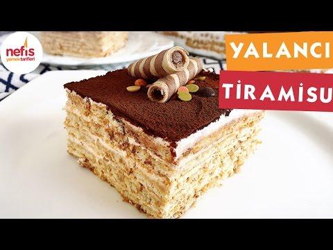 Bisküvili Yalancı Tiramisu - Pasta Tarifleri - Nefis Yemek Tarifleri