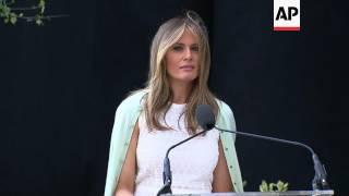 First Lady dedicates Garden at Hospital