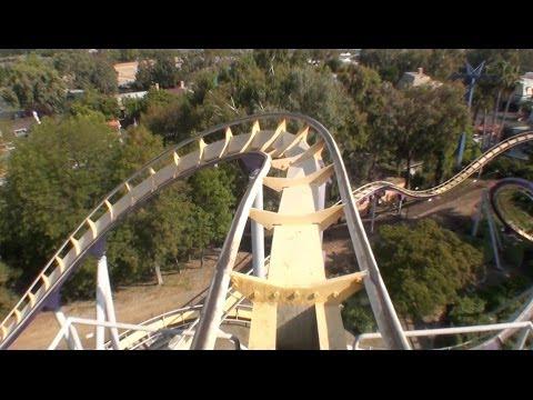 Vortex Stand Up Roller Coaster POV California's Great America