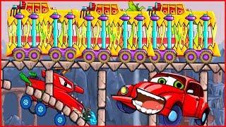 Глюк Меня Съел НЯМ-НЯМ-НЯМ car eats car 2 Игра как мультик про хищные машинки от Фаника 8
