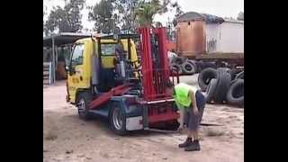 Unusual Isuzu Truck-Ezy Fork Lift Application