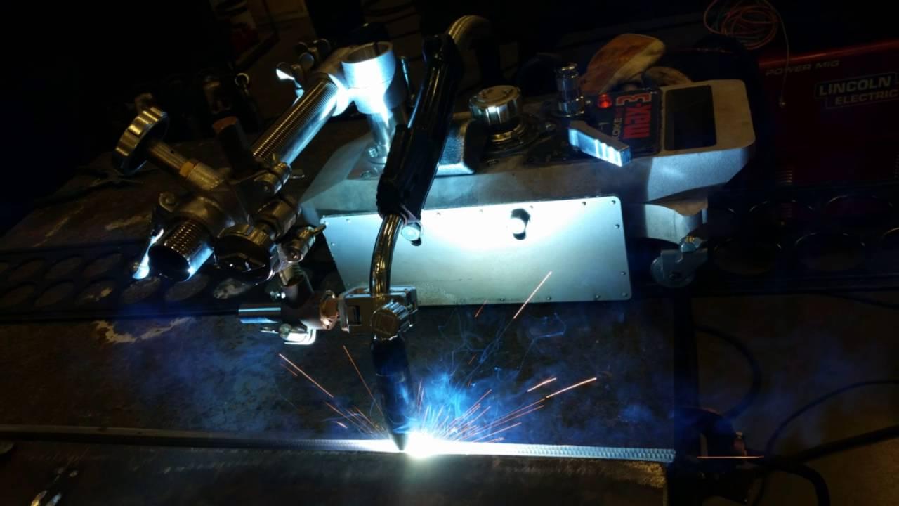 Semi-automatic MIG welding - YouTube