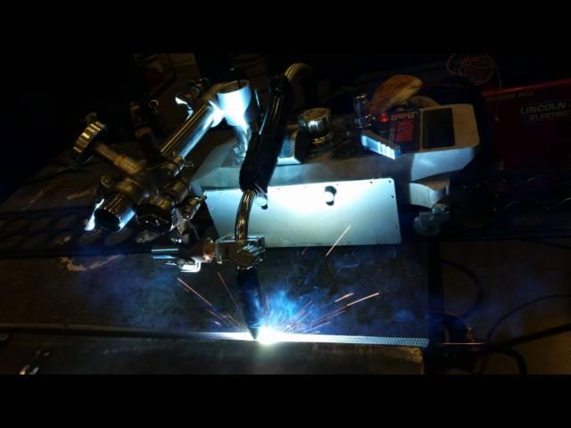 Semi-automatic MIG welding