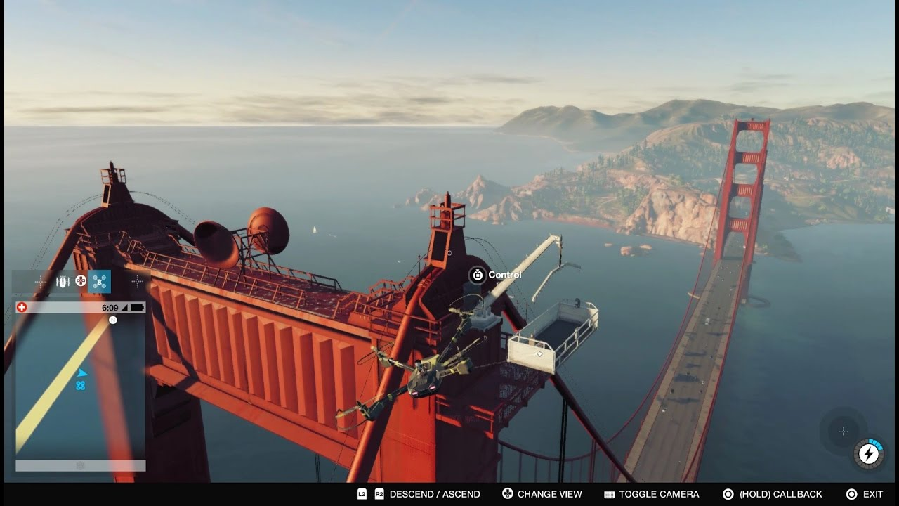 Watch Dogs 2 Climbing The Golden Gate Bridge Youtube