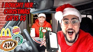 I BOUGHT DRIVE THRU EMPLOYEES CHRISTMAS GIFTS ! *iPHONE 11 PRO MAX* (VERY EMOTIONAL)