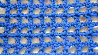 Вязание для начинающих - Как вязать филейную сетку
