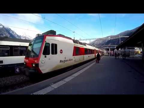 SWITZERLAND TRAINS : Martigny - Monthey - St-Gingolph (RER Valais)