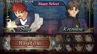 Fate/Unlimited Codes [PSP] Final Part: Bonuses