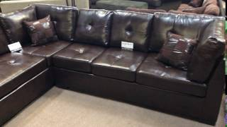 Coaster 500686 Chocolate Brown Sectional With Chaise