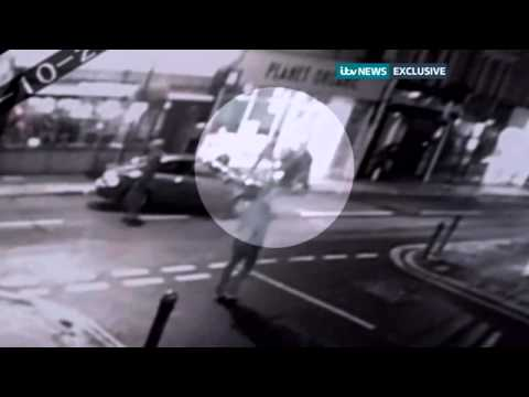 CCTV of anti terror arrest on west London street